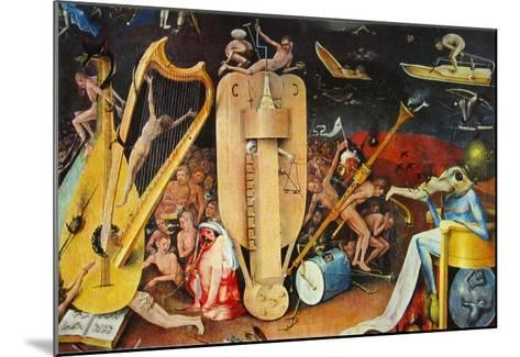 The Musician S Hell-Hieronymus Bosch-Mounted Collectable Print