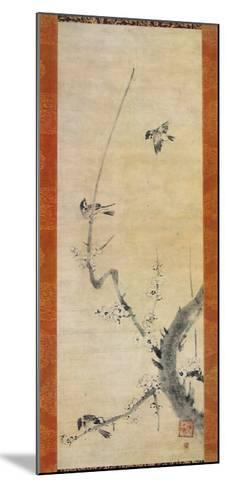 Sparrows and Plum Tree-Kaoo Soozen-Mounted Collectable Print