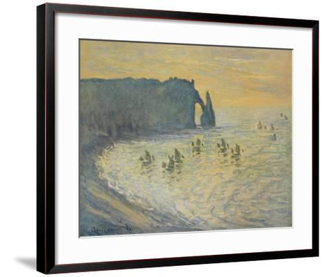 The Cliffs at Etretat-Claude Monet-Framed Art Print