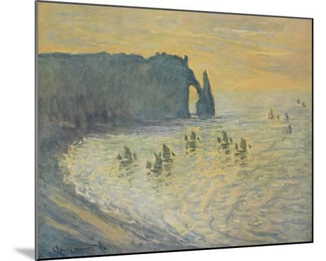 The Cliffs at Etretat-Claude Monet-Mounted Collectable Print