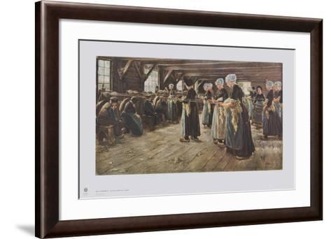 Flax Mill in Laren-Max Liebermann-Framed Art Print