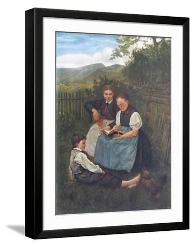 Summer Evening-Hans Thoma-Framed Art Print