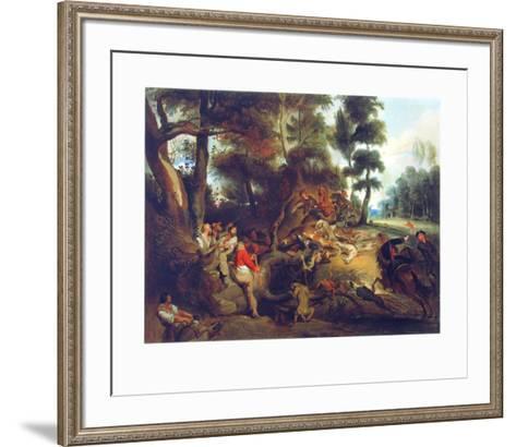 Hunting a Sow-Eugene Delacroix-Framed Art Print