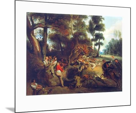 Hunting a Sow-Eugene Delacroix-Mounted Collectable Print