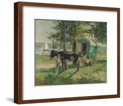 Gipsy Waggon-Camille Pissarro-Framed Art Print