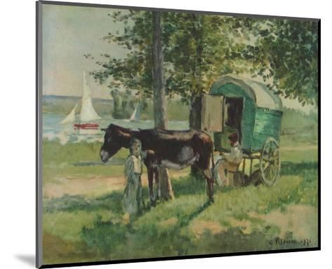 Gipsy Waggon-Camille Pissarro-Mounted Collectable Print