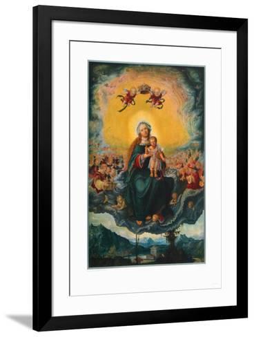 Virgin and Child in the Glory-Albrecht Altdorfer-Framed Art Print