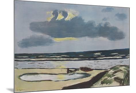 Seashore-Max Beckmann-Mounted Collectable Print