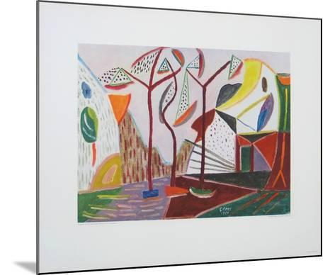 Landscape with Trees-Werner Gilles-Mounted Collectable Print