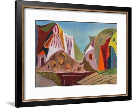 Landscape-Werner Gilles-Framed Art Print