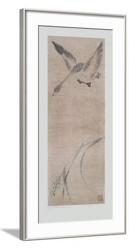 Wild Goose Pitching- Mu-Chi-Framed Art Print