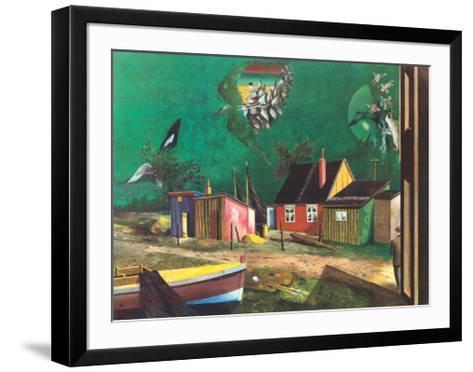 Strange Passage of Birds Over Dangast-Franz Radziwill-Framed Art Print