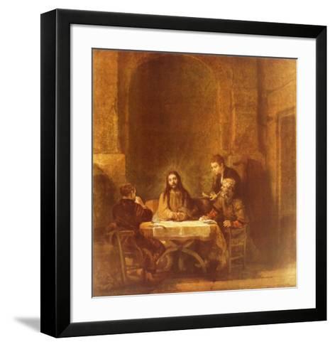 Christ and the Disciples at Emmaus-Rembrandt van Rijn-Framed Art Print