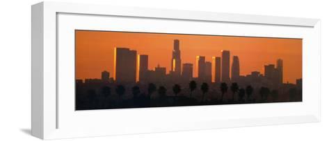 Los Angeles City at Dawn-Ren? Sheret-Framed Art Print