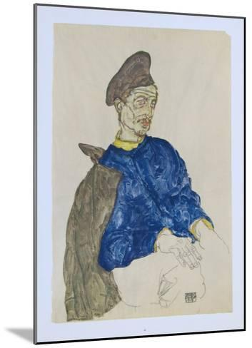 Russian Prisoner of War, 1914-Egon Schiele-Mounted Collectable Print