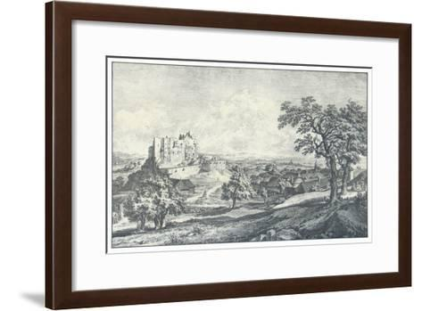 Ruin of the Castle Liechtenstein-Johann Christian Brand-Framed Art Print