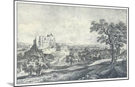 Ruin of the Castle Liechtenstein-Johann Christian Brand-Mounted Collectable Print