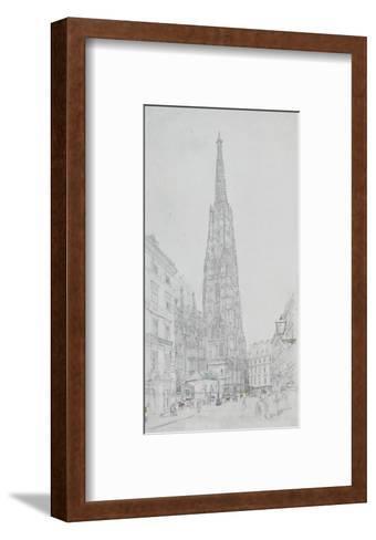 Cathedral St Stephan in Vienna-Rudolph von Alt-Framed Art Print