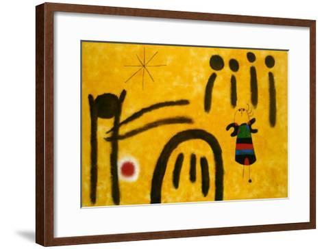 The Little Fair Girl in the Park-Joan Mir?-Framed Art Print