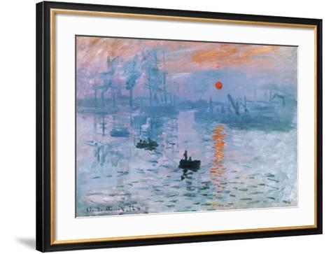 Impression Soleil Levant-Claude Monet-Framed Art Print