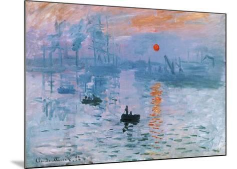 Impression Soleil Levant-Claude Monet-Mounted Art Print