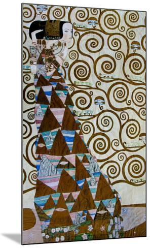 Expectation, Stoclet Frieze, c.1909-Gustav Klimt-Mounted Art Print
