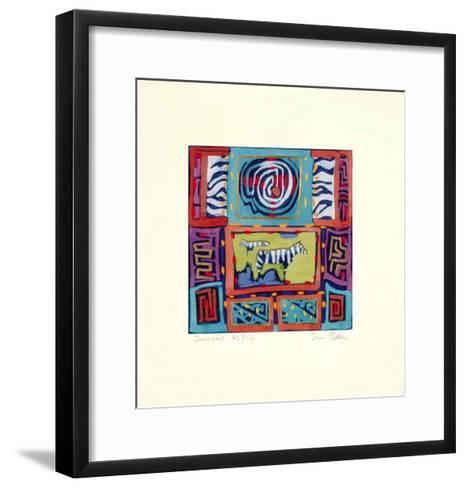 Zebra Zebra-Simon Bull-Framed Art Print