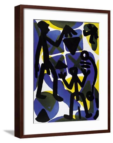 Vergleich-A^ R^ Penck-Framed Art Print