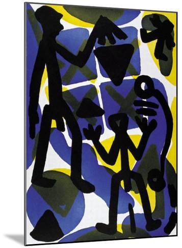 Vergleich-A^ R^ Penck-Mounted Art Print