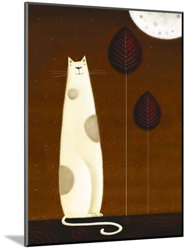 Feline and Two Leaves-Jo Parry-Mounted Art Print