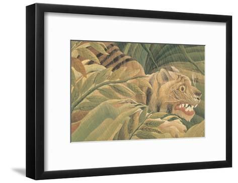 Tiger in a Tropical Storm (Surprised!), 1891 (detail)-Henri Rousseau-Framed Art Print