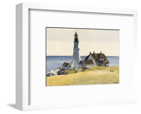 Lighthouse and Buildings, Portland Head, Cape Elizabeth, Maine, c.1927-Edward Hopper-Framed Art Print