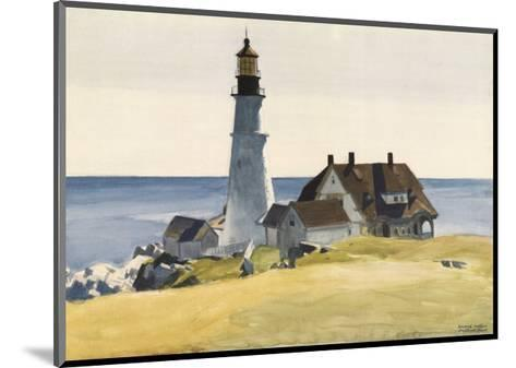 Lighthouse and Buildings, Portland Head, Cape Elizabeth, Maine, c.1927-Edward Hopper-Mounted Art Print