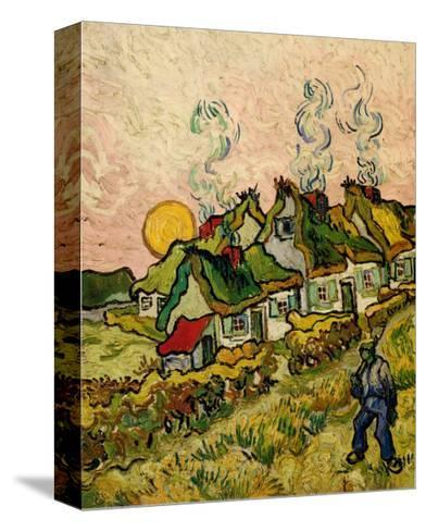 House and Figure, c.1890-Vincent van Gogh-Stretched Canvas Print