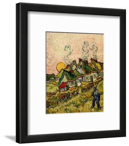 House and Figure, c.1890-Vincent van Gogh-Framed Art Print
