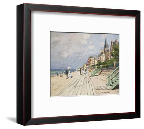 Beach at Trouville, 1870-Claude Monet-Framed Art Print