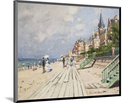 Beach at Trouville, 1870-Claude Monet-Mounted Art Print