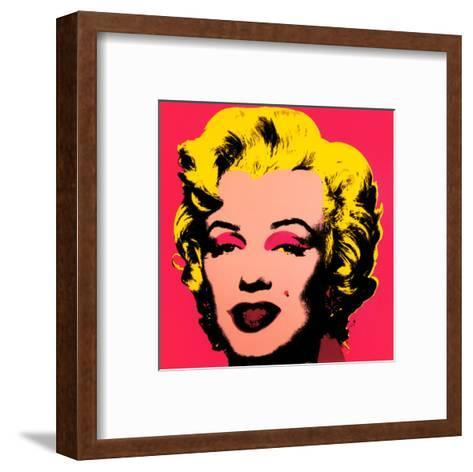 Marilyn Monroe, 1967 (hot pink)-Andy Warhol-Framed Art Print