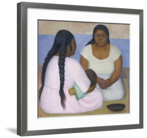 Two Women and a Child-Diego Rivera-Framed Art Print
