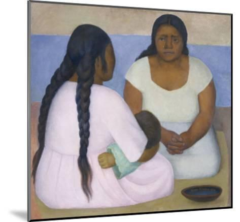 Two Women and a Child-Diego Rivera-Mounted Art Print