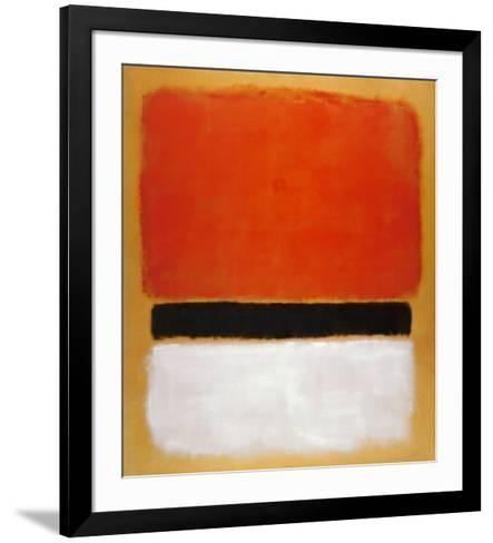 Untitled (Red, Black, White on Yellow), 1955-Mark Rothko-Framed Art Print