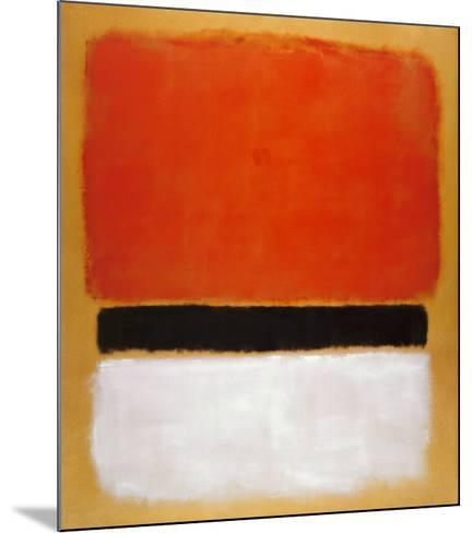 Untitled (Red, Black, White on Yellow), 1955-Mark Rothko-Mounted Art Print