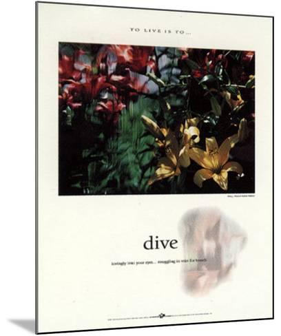 Dive-Francis Pelletier-Mounted Art Print