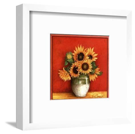 Tournesol en Jarre-Vincent Jeannerot-Framed Art Print
