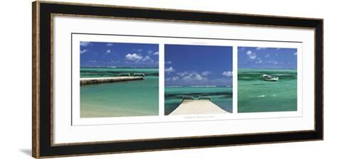 Lagoon of Mauritius Island-Laurent Pinsard-Framed Art Print