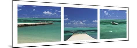 Lagoon of Mauritius Island-Laurent Pinsard-Mounted Art Print