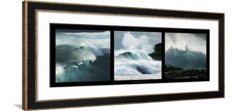 Vagues a la Reunion-Laurent Pinsard-Framed Art Print