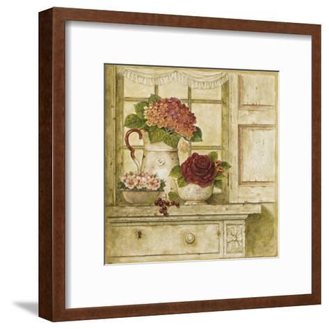 Floral Arrangement with Grapes II-Herve Libaud-Framed Art Print