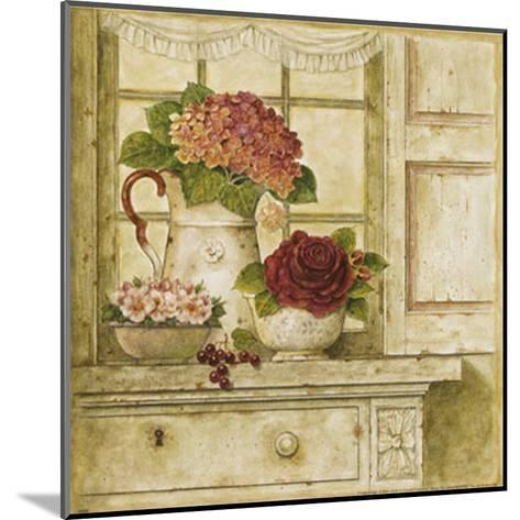 Floral Arrangement with Grapes II-Herve Libaud-Mounted Art Print