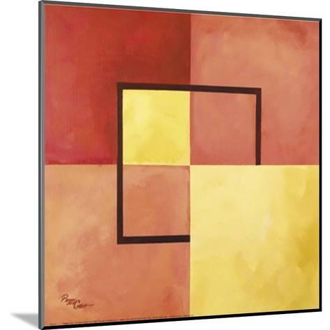 Four Squares with Lines-Peggy Garr-Mounted Art Print